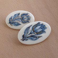 Odznaky/Brošne - Kobaltové tulipány. - 9180726_