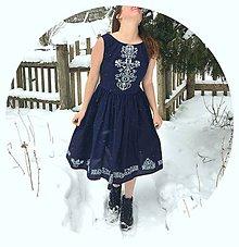 Šaty - Modrotlačové - 9186291_