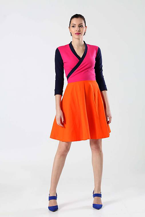 2abfef5b0059 Šaty Cross s polkruhovou sukňou   ZuzanaZachar - SAShE.sk - Handmade ...