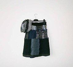 Sukne - lel, midi sukňa a čiapka,sovy do modra - 9184109_