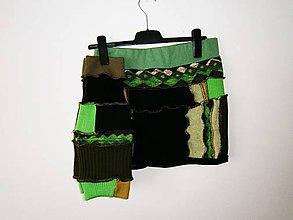 Sukne - lel, riťohrej a štucne na zeleno - 9184127_