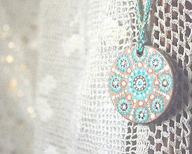 Náhrdelníky - Amulet - Mandala minty - 9183129_
