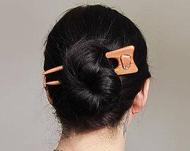 Ozdoby do vlasov - Drevená ihlica do vlasov - 9183979_