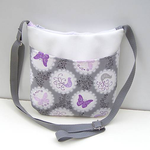 ef7e5f5893 Malá kabelka Biela Motýle   zu - SAShE.sk - Handmade Kabelky