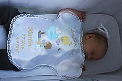 Detské doplnky - Krstové rúško maľované Anjelik polieva - 9184757_