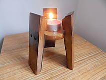 Svietidlá a sviečky - Svietnik 3 (Wine barrel candle holder) - 9186509_