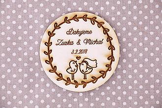 Darčeky pre svadobčanov - Darček pre svadobčanov-magnetka - 9182677_