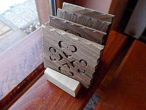 Pomôcky - Sada drevených podložiek, podšáliek v stojane - 9183236_