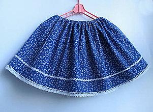 Detské oblečenie - detská folklórna modrotlačová sukňa  (I.) - 9182544_