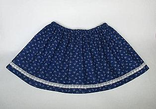 Detské oblečenie - detská folklórna modrotlačová sukňa  (III.) - 9182565_