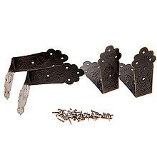 Komponenty - Rohové spojky-sada 4 ks - dve veľkosti - 9185355_