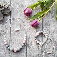 """Sady šperkov - Set silikónových šperkov """"Jemnosť v ružovom"""" - 9184784_"""