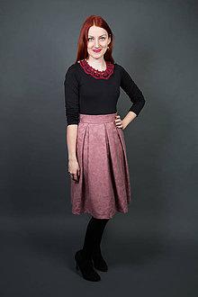 Sukne - Staroružová sukňa - 9182424_