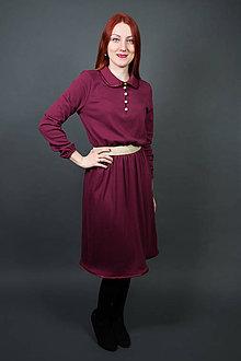 Šaty - Bordové šaty - 9182433_