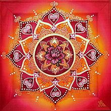 Obrazy - Mandala lásky, nový vzťah - 9182978_