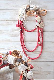 Dekorácie - námornícke dekolano v červenom - 9185223_