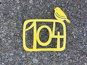 Tabuľky - Číslo na dom s vtáčikom - 9184779_