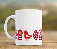- Šálka červený folk (Objem 325 ml, priemer 8,2 cm, výška 9,5 cm) - 9186309_