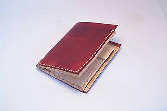 Peňaženky - Kožená peňaženka -borovice - 9184826_