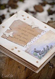 Papiernictvo - Levanduľový sen - svadobný fotoalbum - 9182463_