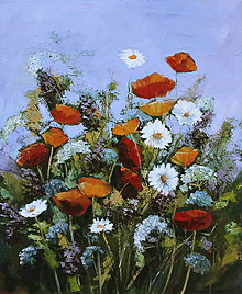 Obrazy - Poľné kvety - 9184768_