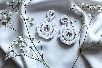 Náušnice - Luxusné svadobné náušky - 9184772_