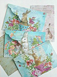 Papiernictvo - Zajovia karty/obálky - 9184688_