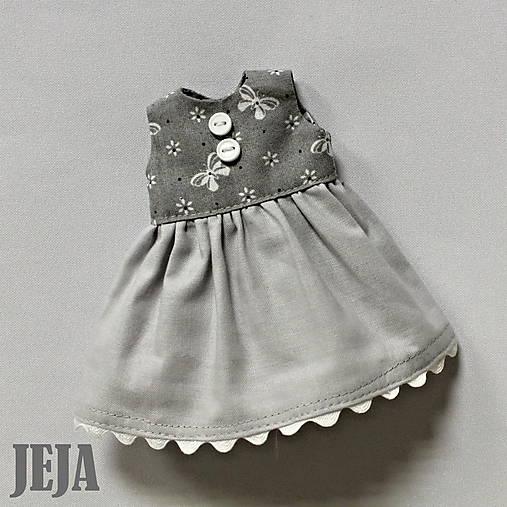 2dd4f50cf208 Sivé šaty s motýlikmi   babikajeja - SAShE.sk - Handmade Hračky