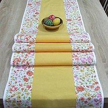 Úžitkový textil - Jarná nálada - stredový obrus 170x40 - 9186267_