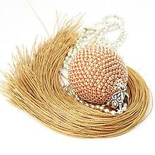 Náhrdelníky - TASSEL Rose Gold - dlhý náhrdelník so strapcom - 9182608_
