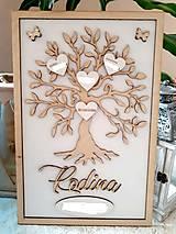 Dekorácie - Rodinný strom - biely - 9184791_