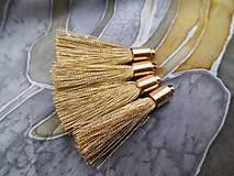 - Strapce zlaté a strieborné - pár (Zlatá) - 9183153_