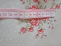 Textil - látka ruže na šedobéžovom -natur - 9184055_