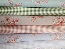 Textil - látka ruže na šedobéžovom -natur - 9184056_