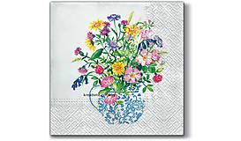 """Papier - Servítka """"Vase with flowers"""" - 9185880_"""