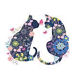 """Papier - Servítka """"Floral cats"""" - 9186070_"""