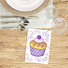 Kresby - koláčik - kreslená pohľadnica - 9186082_