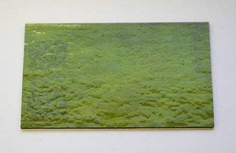 Suroviny - Sklo zelené, dúhové, iridizované, zn. Bullseye - 9187119_