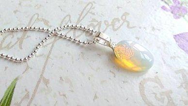 Náhrdelníky - Zodiac Sign Gemstone Pendant / Prívesok z minerálu podľa znamenia (Ryby - opalit) - 9188548_