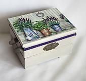 Krabičky - Skrinka na šijacie potreby - 9188188_