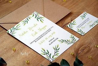 Papiernictvo - Svadobné oznámenie 35 - 9187240_