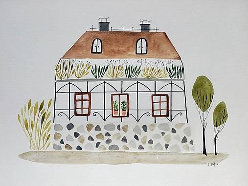 Botanicky dom ilustrácia  / originál maľba