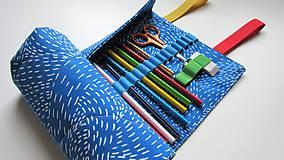 Taštičky - Rolovací peračník modrý - 9187370_