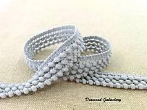 Galantéria - Ozdobná pompom lemovka - 20 mm šedá - 9189716_