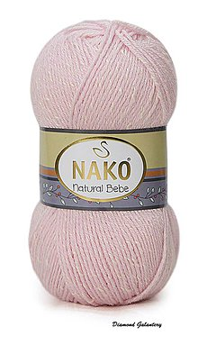 Galantéria - Nako Natural Bebe - 1065 pastelová ružová - 9188940_