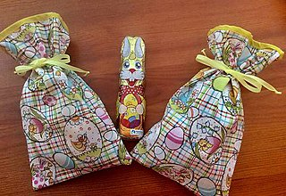 Úžitkový textil - jarné veľkonočné vrecúško - 9187041_