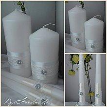 Svietidlá a sviečky - svadobné sviečky - 9190349_