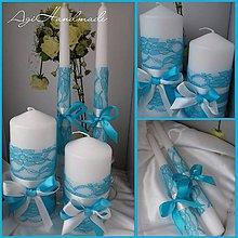 Svietidlá a sviečky - svadobné sviečky - 9190458_