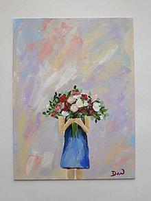 Dekorácie - Kytica kvetov - 9189919_