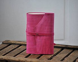 Papiernictvo - kožený zápisník MAGENTA - 9188425_